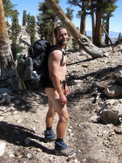 nude backpacking