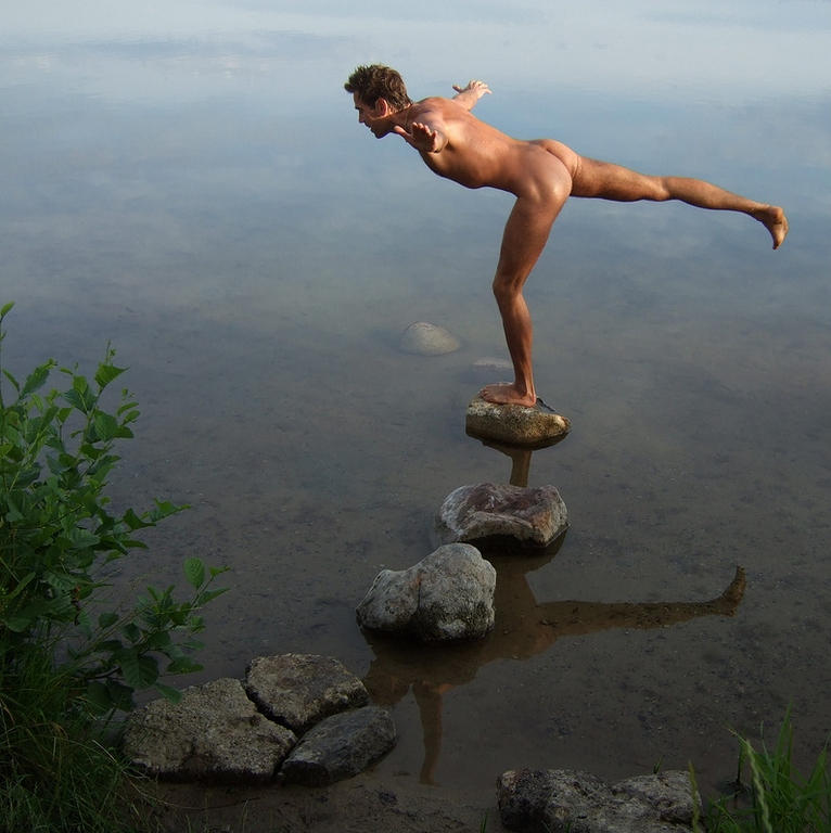 Balancing on a rok