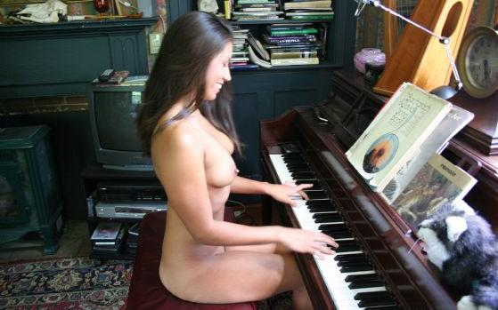 A natural at the piano