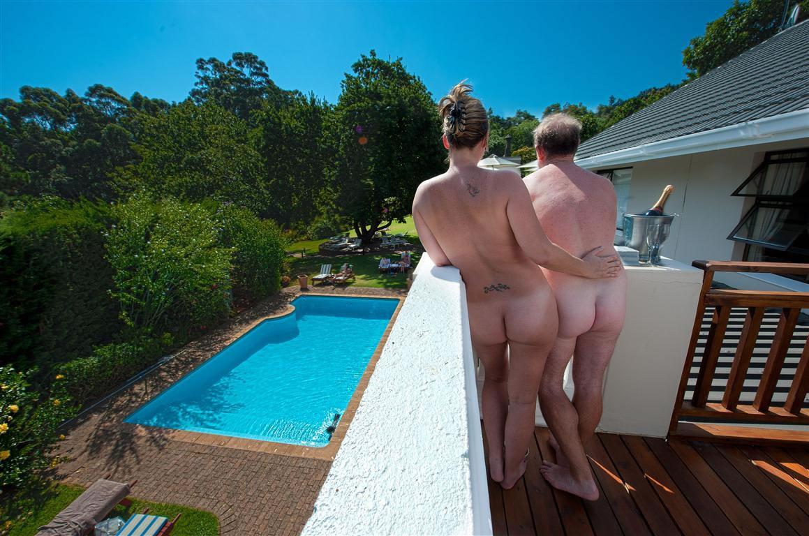 Pool view celebration