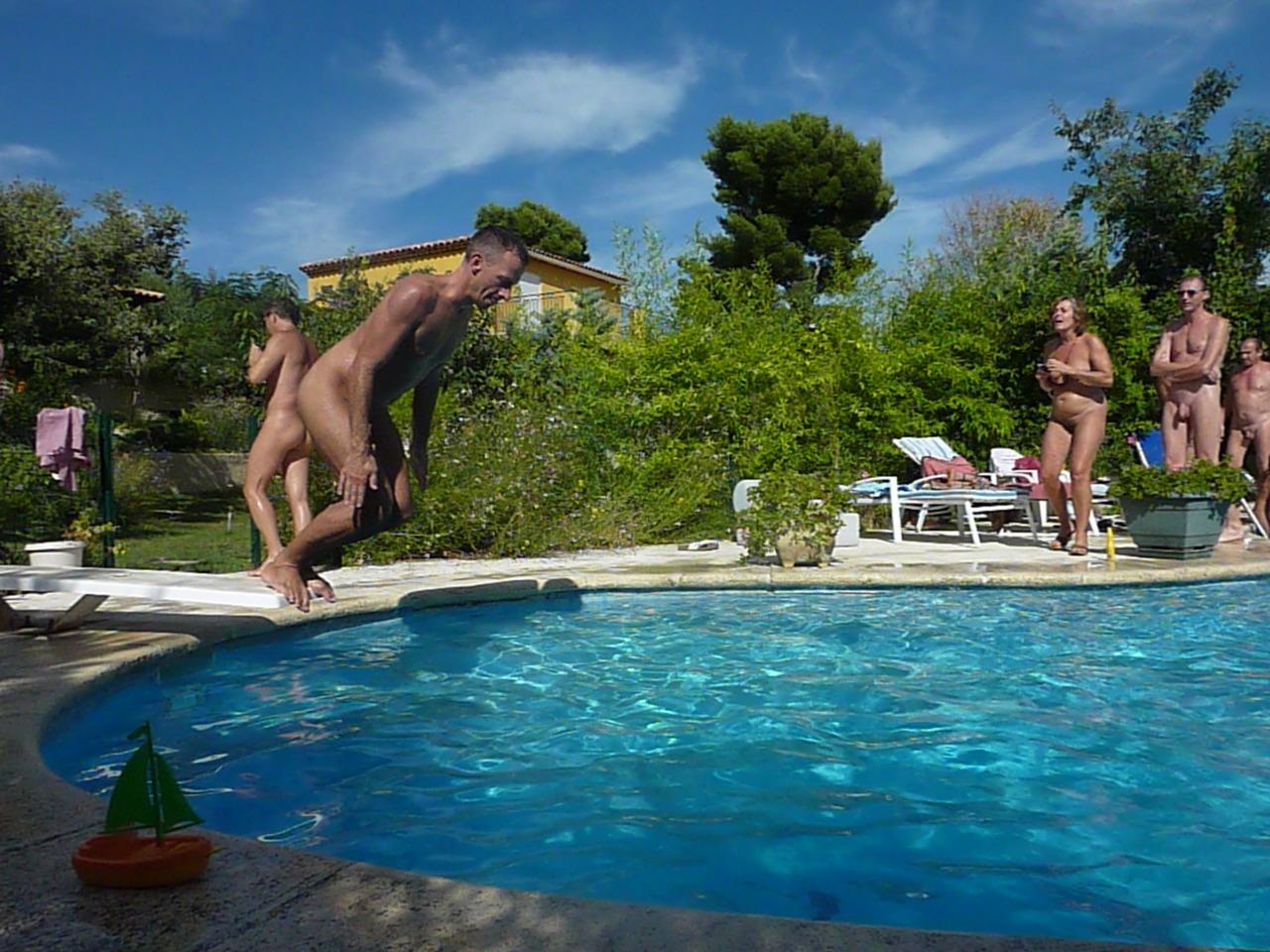 Backyard pool fun