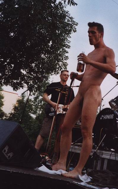 Nude on stage