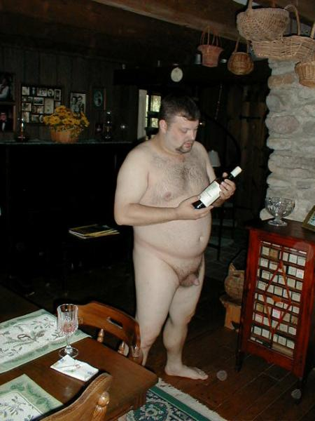 Pic of the day nude wine connoisseur