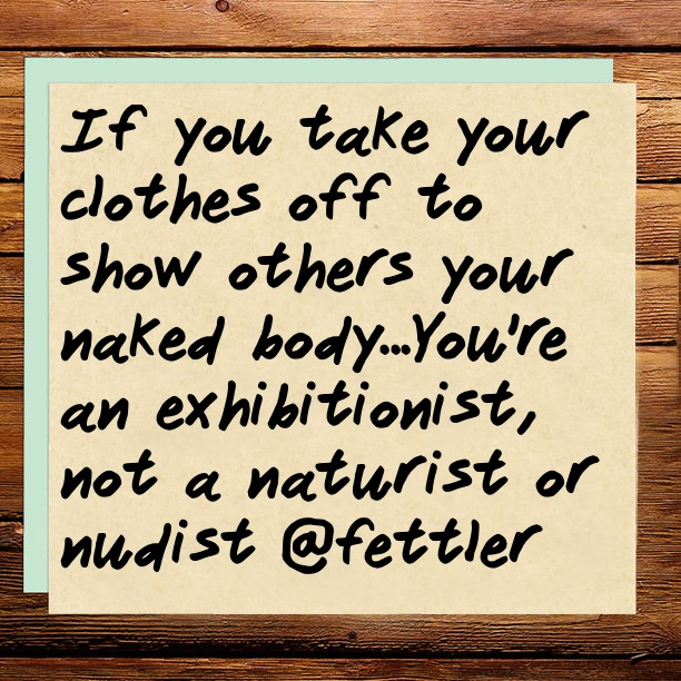 If you take your clothes off