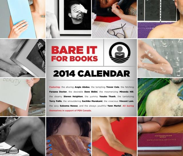 Bare It for Books 2014 calendar