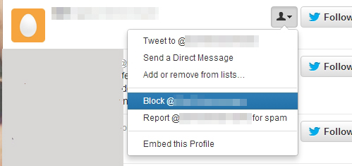 screenshot of Block Request