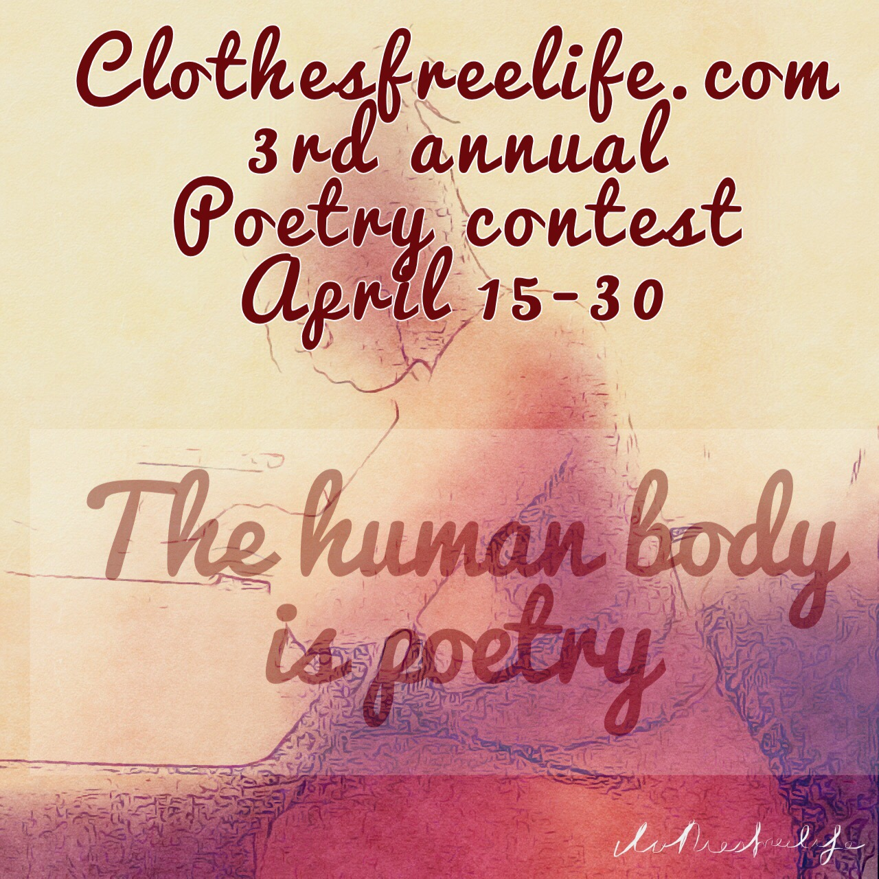 Annual Clothes Free Poetry Contest Continues!