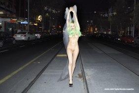 American Socialite model arrested on public nude walk in Australia