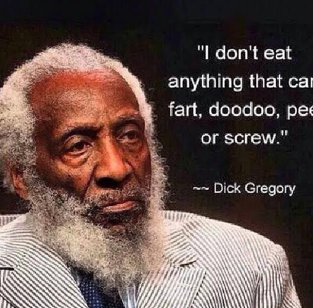 Dick Gregory civil rights activist and vegetarian